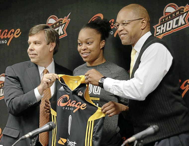 Shock first-round pick Odyssey Sims introduced to Tulsa