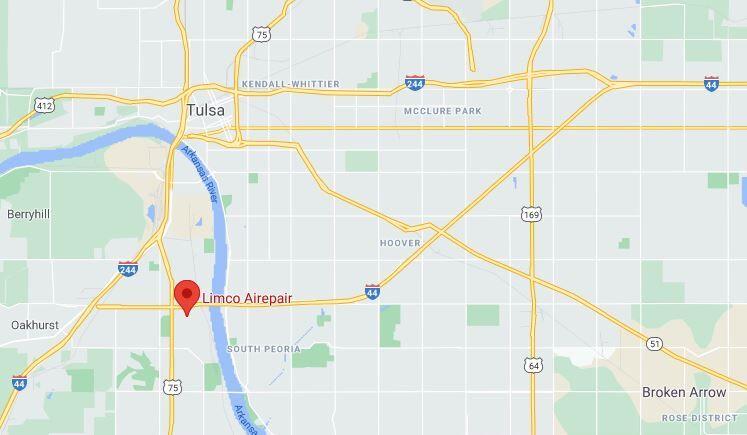 Limco Airepair, Inc. Tulsa locator map