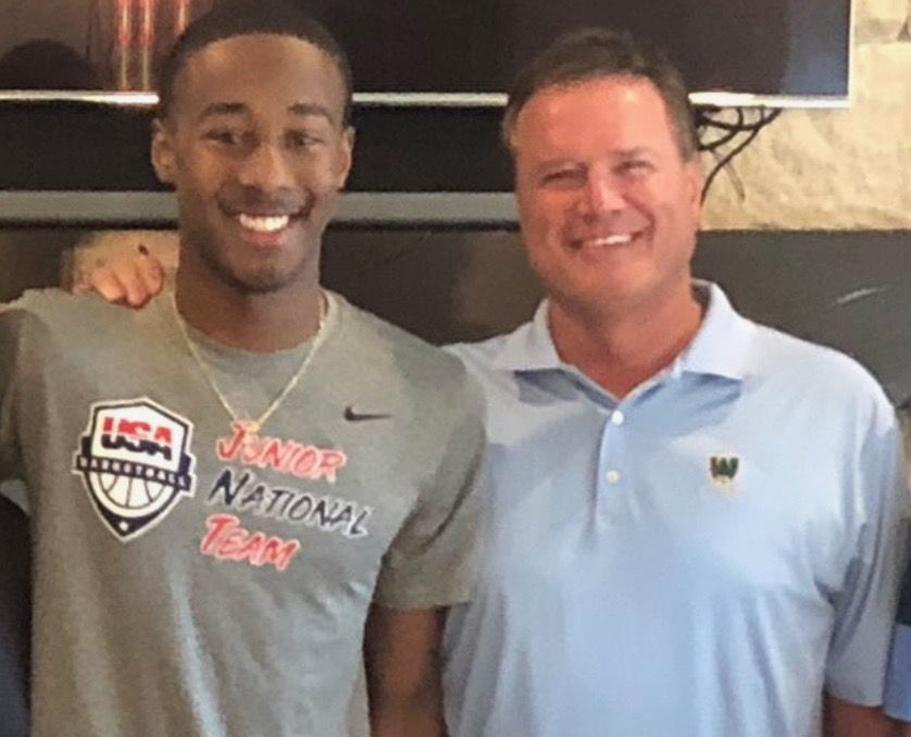 Bryce Thompson and Bill Self