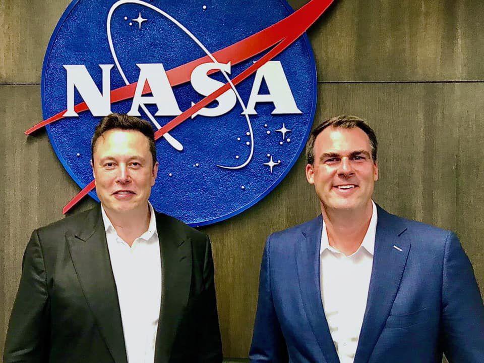 Elon Musk and Gov. Kevin Stitt