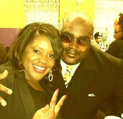 Terence Crutcher with his twin sister, Tiffany