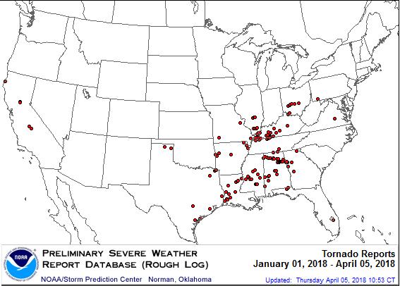 2018 tornadoes NOAA courtesy