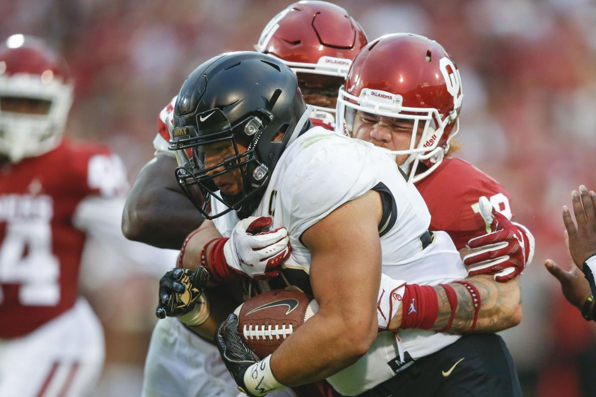 Army at No. 5 Oklahoma  Sooners survive Knights in overtime ... 88593d2c8