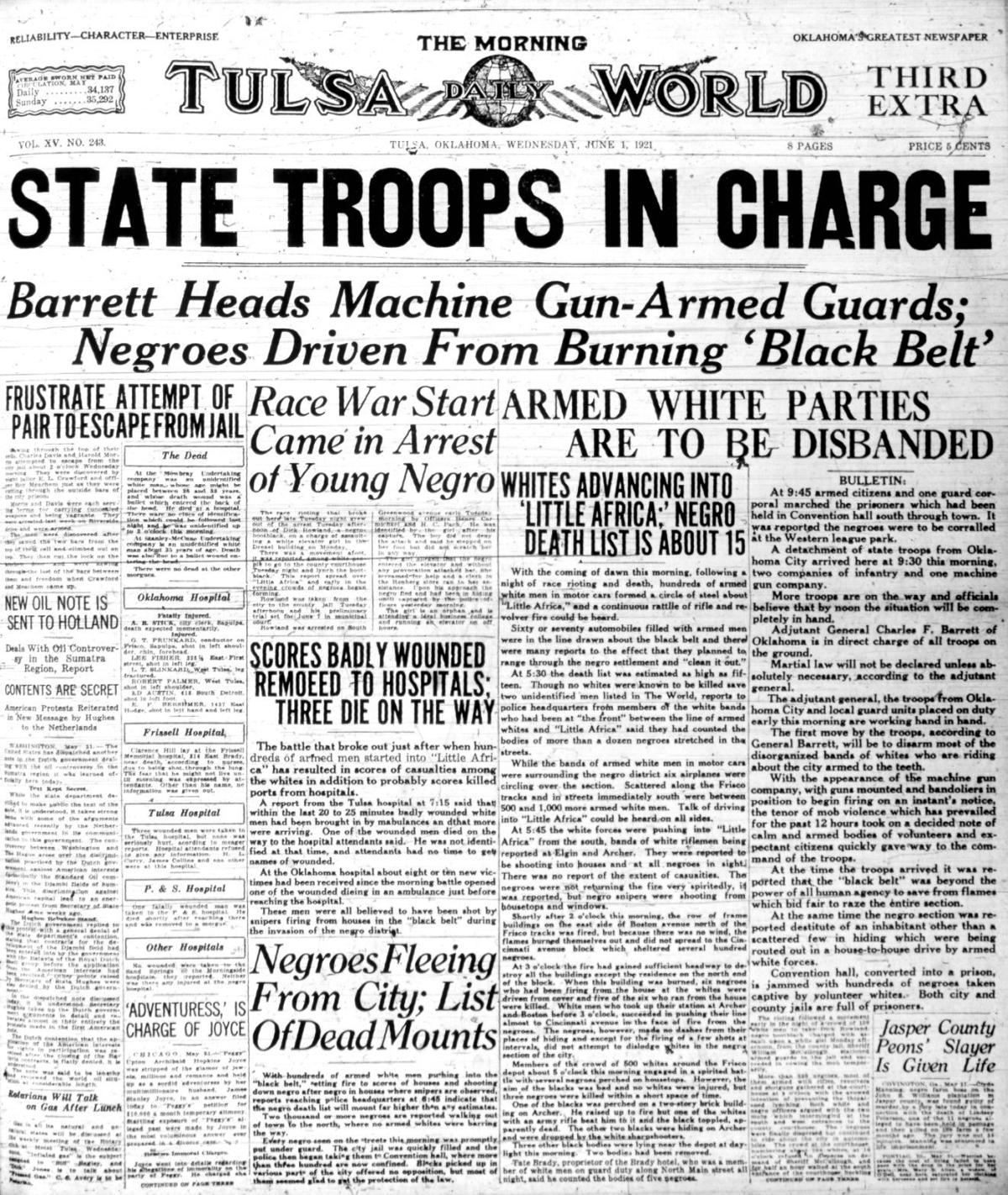 Third extra, Tulsa World, June 1, 1921