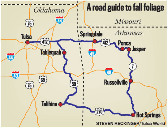 Ponca Arkansas Map.See The Fall Color With This Ultimate Foliage Drive Through Oklahoma