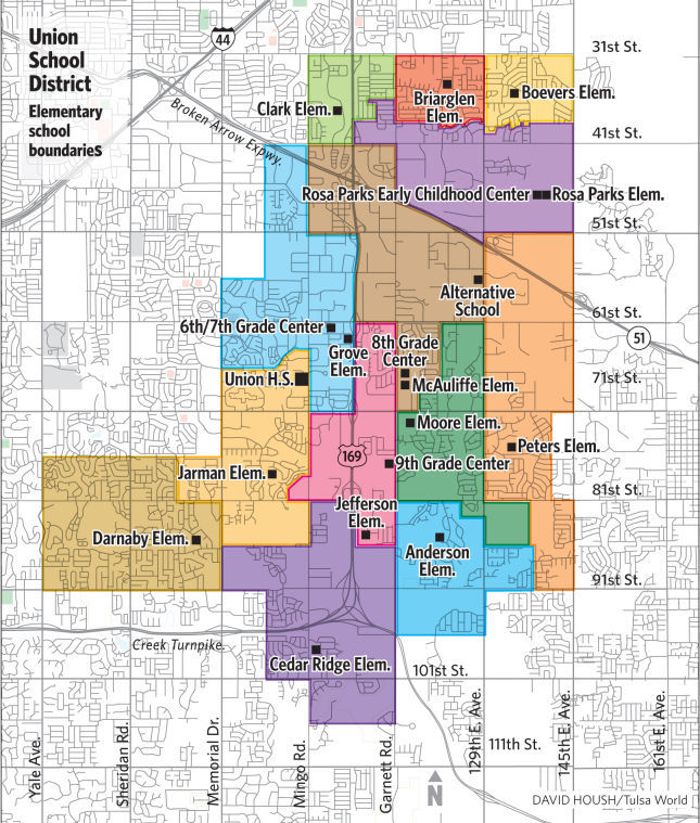 Union School District Map Tulsaworld Com