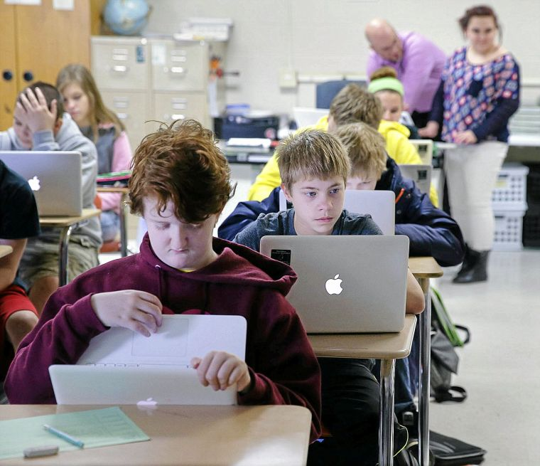School-issued laptops click for Catoosa students