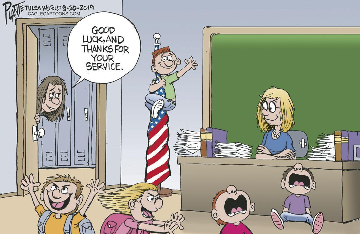 Bruce Plante Cartoon: Thank teachers day (copy)