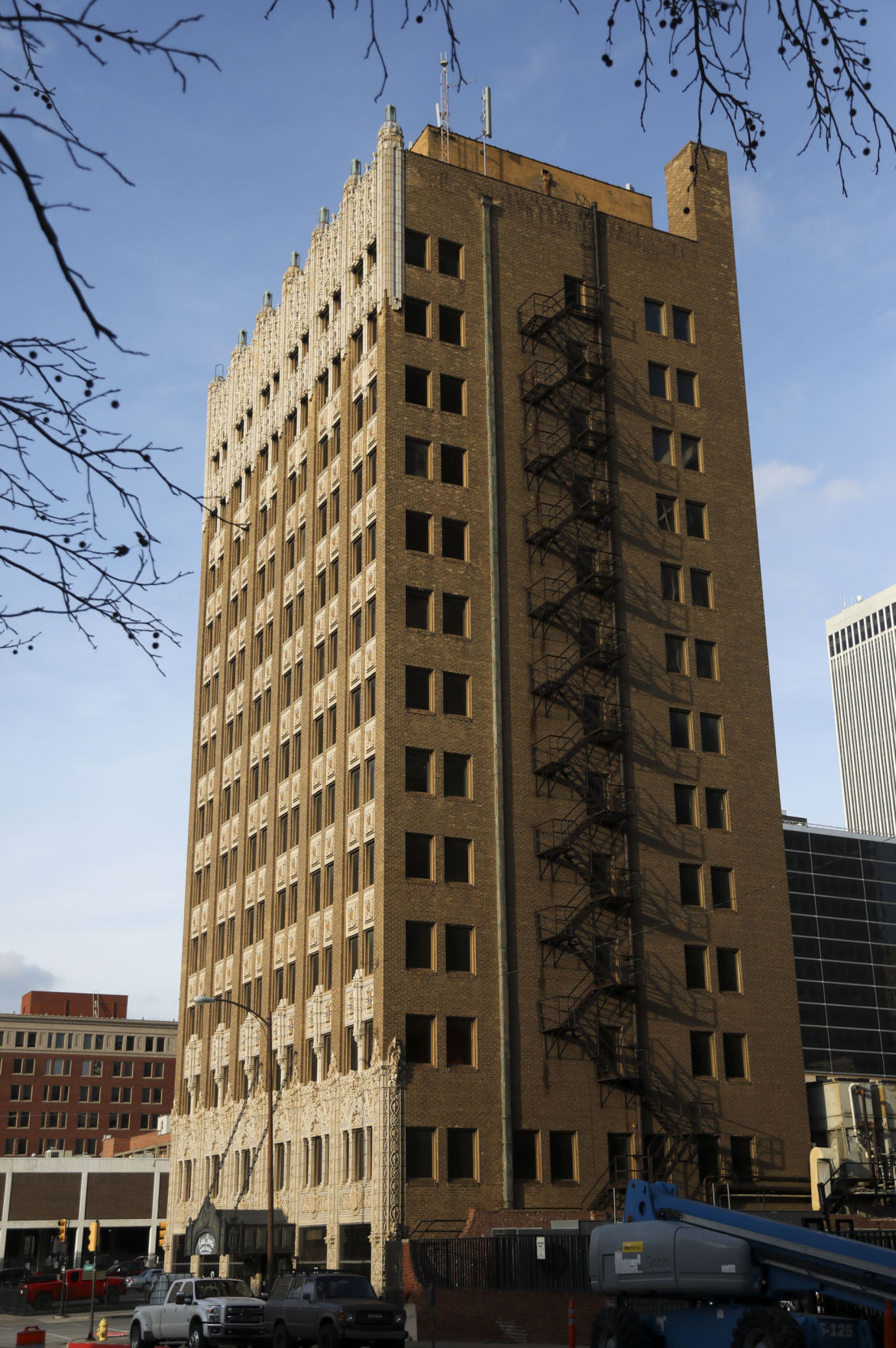 The Adams Building On Corner Of Fourth Street And Cheyenne Avenue In Downtown Tulsa Is Being Redeveloped Into 60 Residential Units With Retail