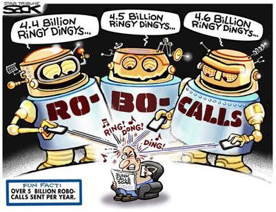 Robocalls by Steve Sack, The Minneapolis Star-Tribune, MN