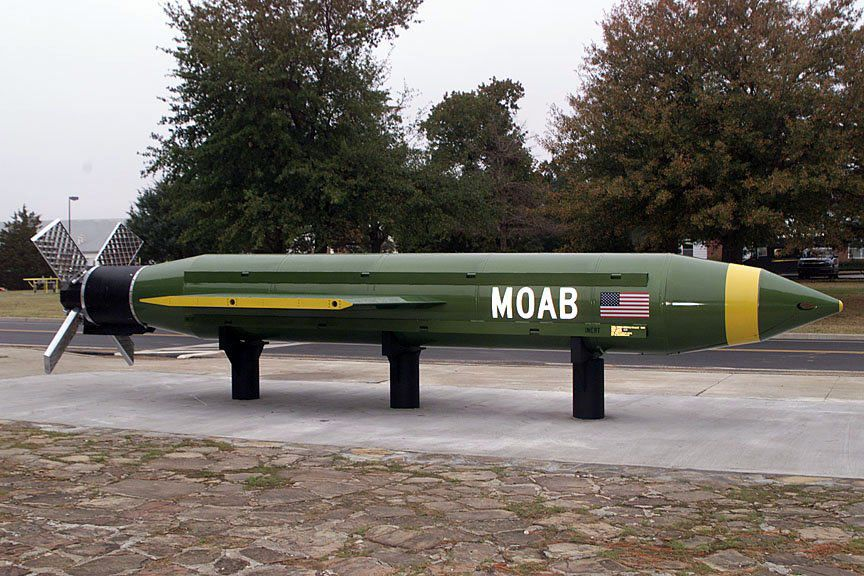 Made In Oklahoma Mother Of All Bombs Dropped In
