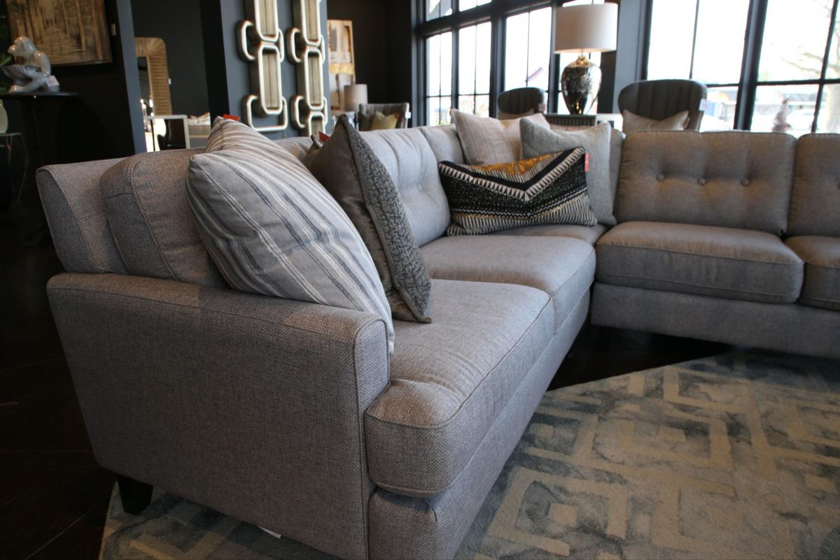 Sectionals with custom touches fit right in with larger homes