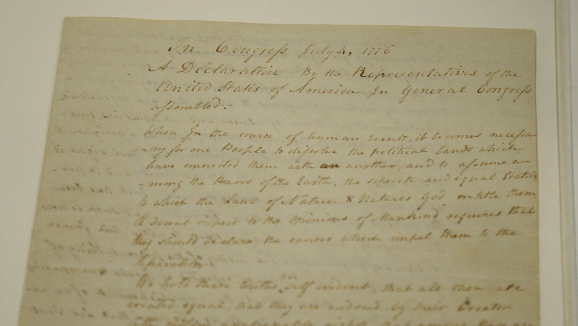 photo regarding Printable Copy of the Declaration of Independence called A exceptional reproduction of the Declaration of Freedom goes upon