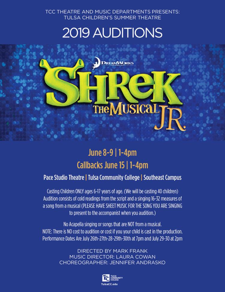 Shrek jr.  Auditions
