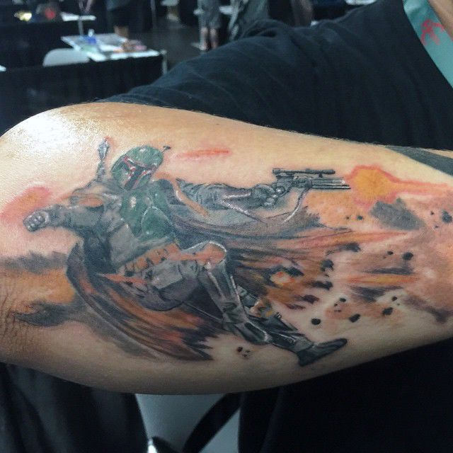 5b47c5be2246b 'Star Wars' fandom more than skin deep for Broken Arrow tattooist licensed  by Lucasfilm
