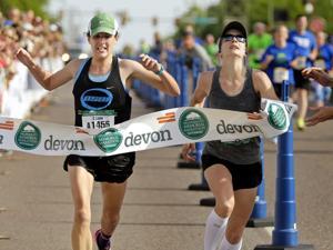 Okc Marathon Woman Passes Out 11