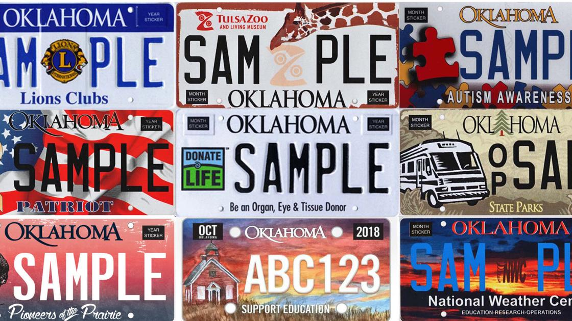A look at Oklahoma's most popular specialty license plates in 2018
