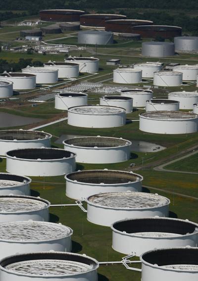 Oil storage tanks in Cushing