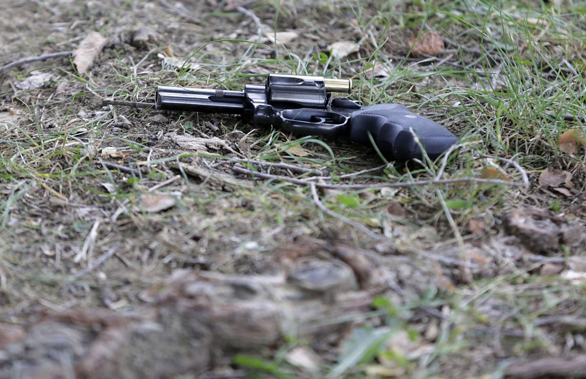 Gun crime scene