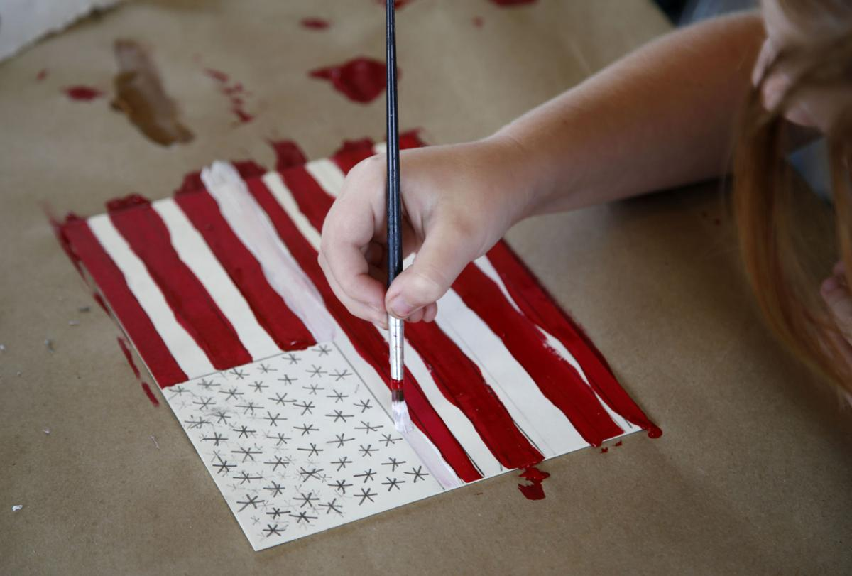 Kids Learn About Flag Day Symbolism Of Us Flag During Art Camp