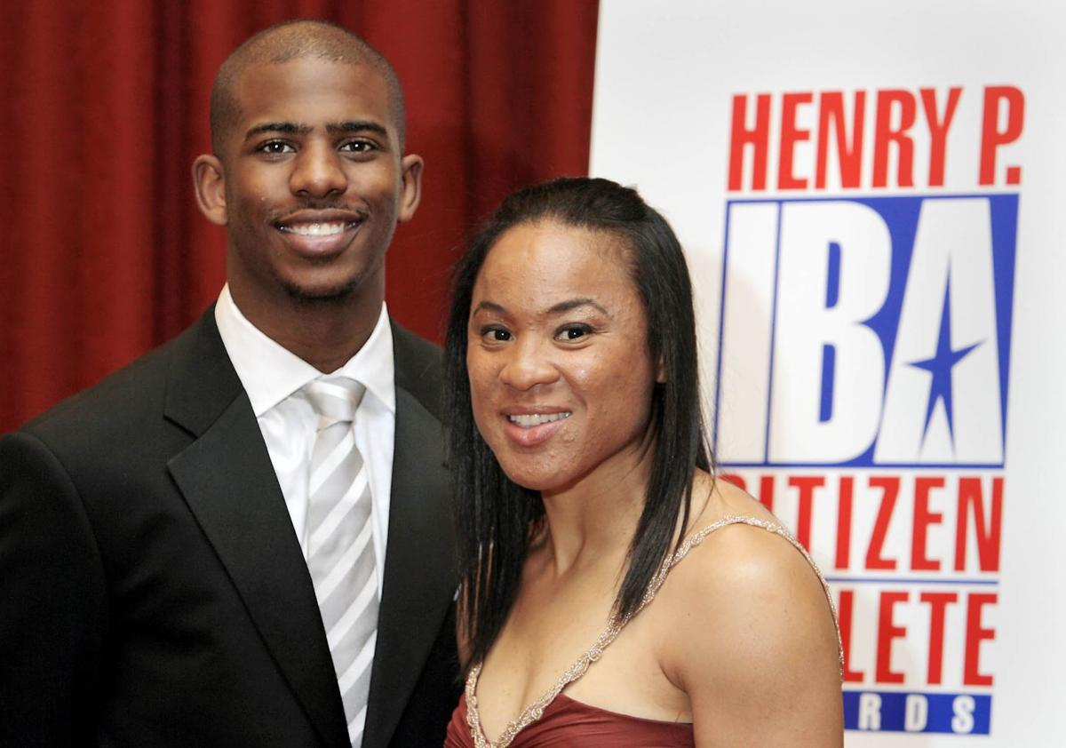Chris Paul and Dawn Staley at Iba Awards