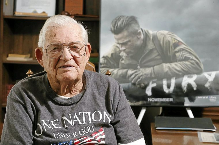 Tulsan WWII hero advises Brad Pitt, movie team making 'Fury