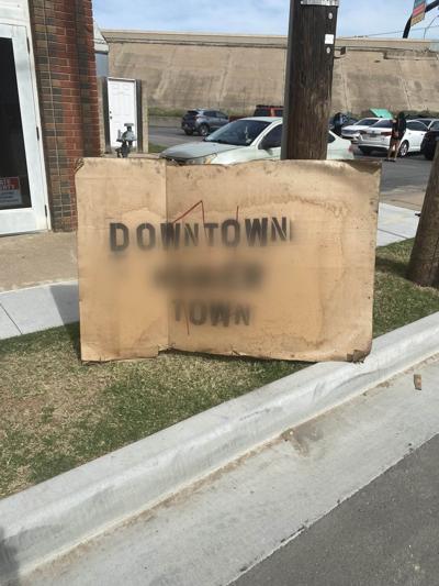 Racist Greenwood sign