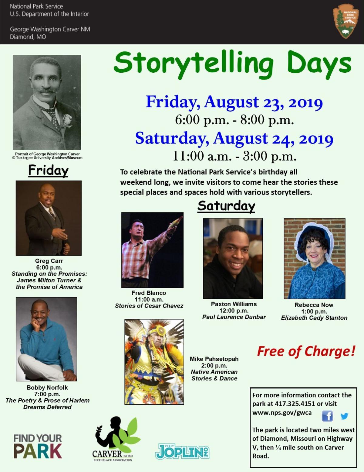 Storytelling Days 2019 at George Washington Carver National Monument