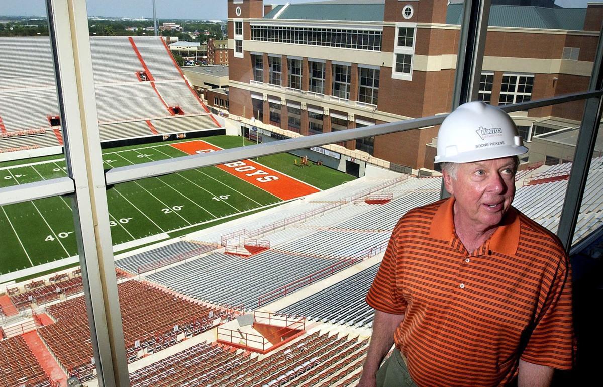 T. Boone Pickens -- stadium -- 2004