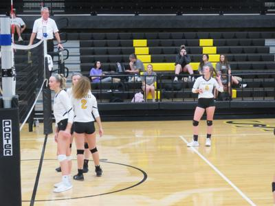 Lady Sandite Volleyball game against the Owasso Rams