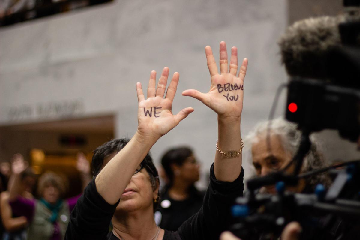 Protests at Kavanaugh hearing