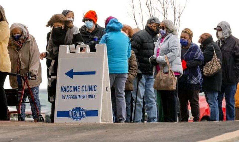 COVID-19 vaccine line OKC
