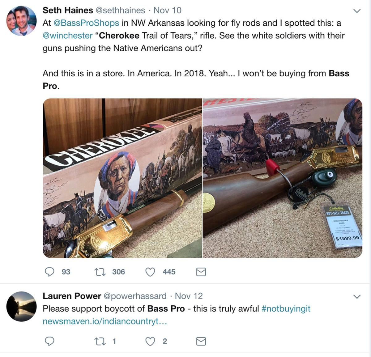 bass pro shops sets record straight on 'trail of tears' rifle