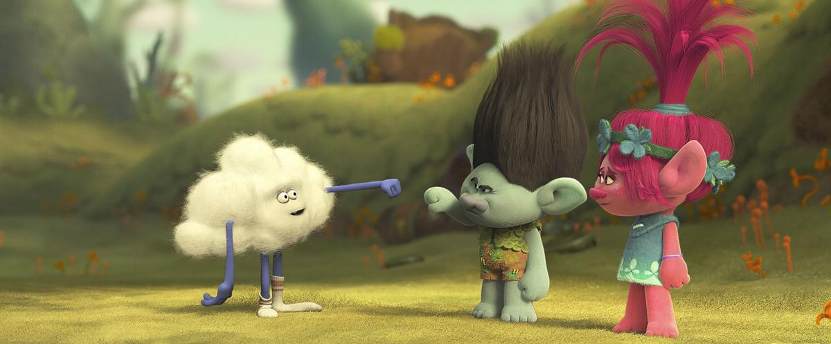 Cloud Guy Voiced By Walt Dohrn A Mysterious Shaped Inhabitant Of The Forest Surrounding Troll Village Offers Branch Justin Timberlake