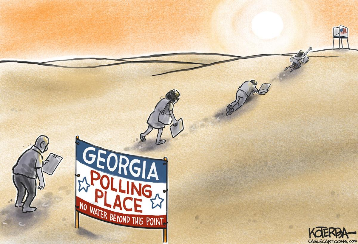 Cartoon: No Water Beyond This Point by Jeff Koterba