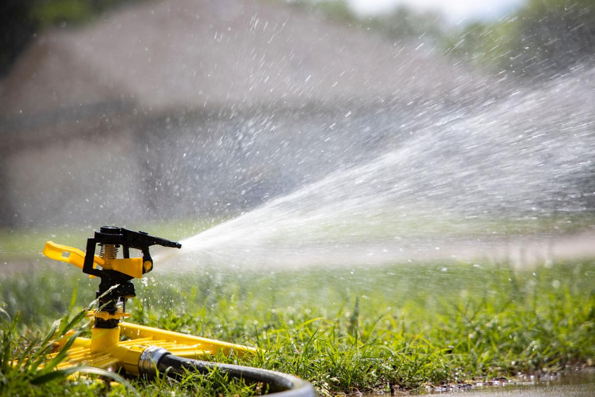Watering the lawn may waste water if not positioned carefully.
