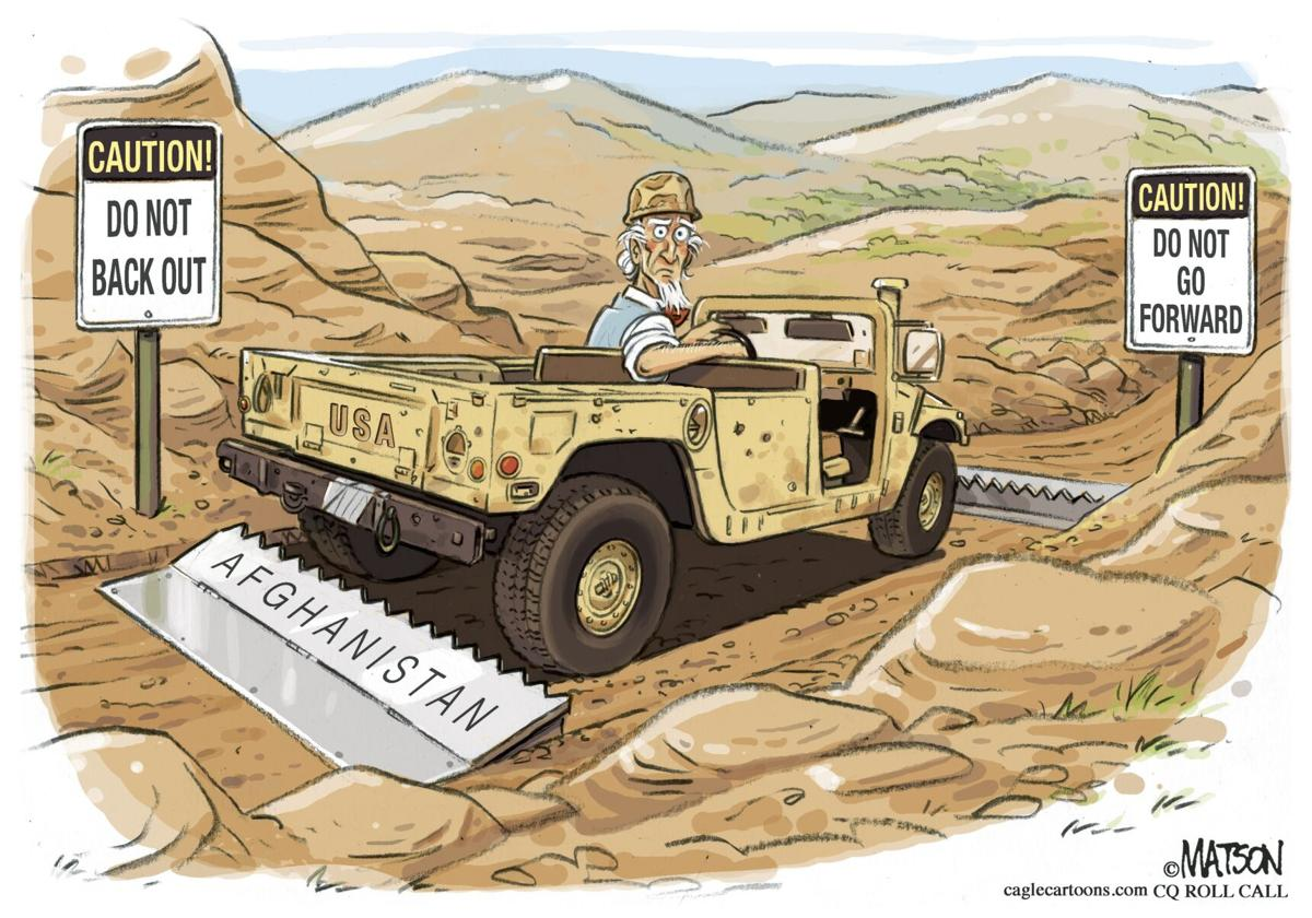 Syndicated Cartoon: No Way Out by R.J. Matson
