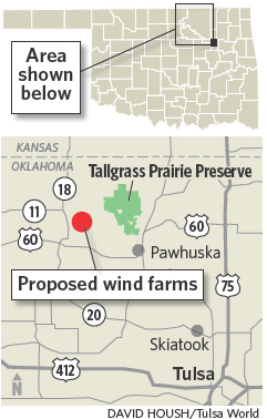 Wind Farms In Oklahoma Map.Wind Farm Appeal Withdrawn In Oklahoma By Osage Nation State