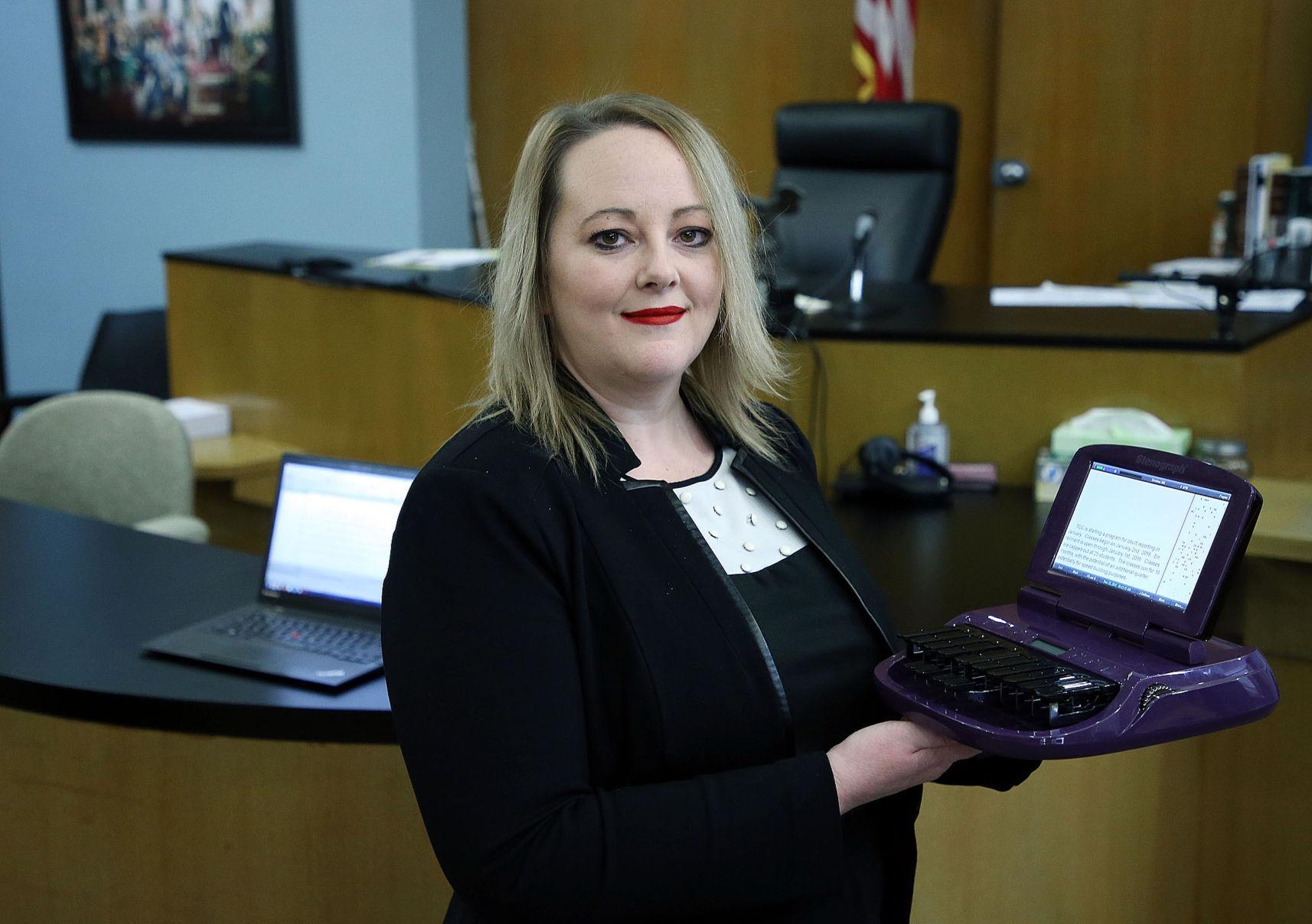 court reporter machine