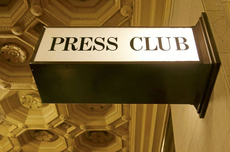 Tulsa Press Club Sign