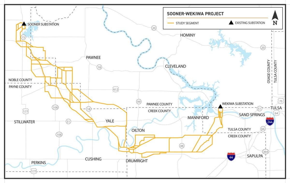 Proposed electrical transmission line