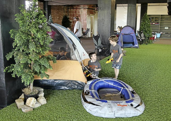 Urban Campout brings fun of camping indoors