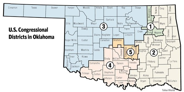 Us Senate Districts Oklahoma Map Oklahoma congressional districts must all change, some | Politics