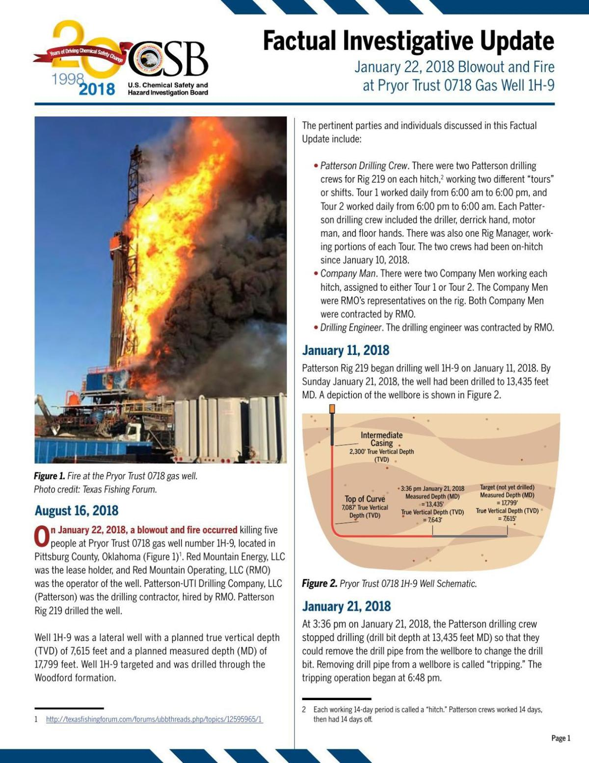 Chemical Safety Board Factual Update On Quinton Natural Gas Rig Well Schematic Download Pdf Deadly Blowout