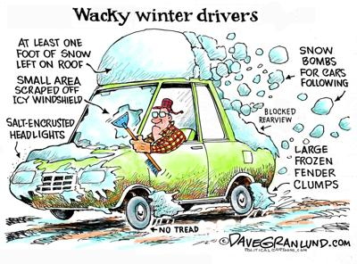 Syndicated Cartoon: Winter's Greatest Hazzard by Dave Granlund