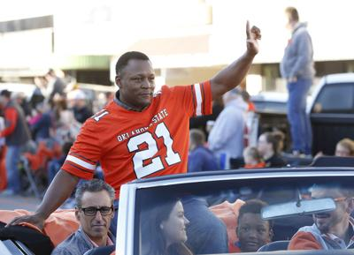 Barry Sanders in OSU Homecoming parade