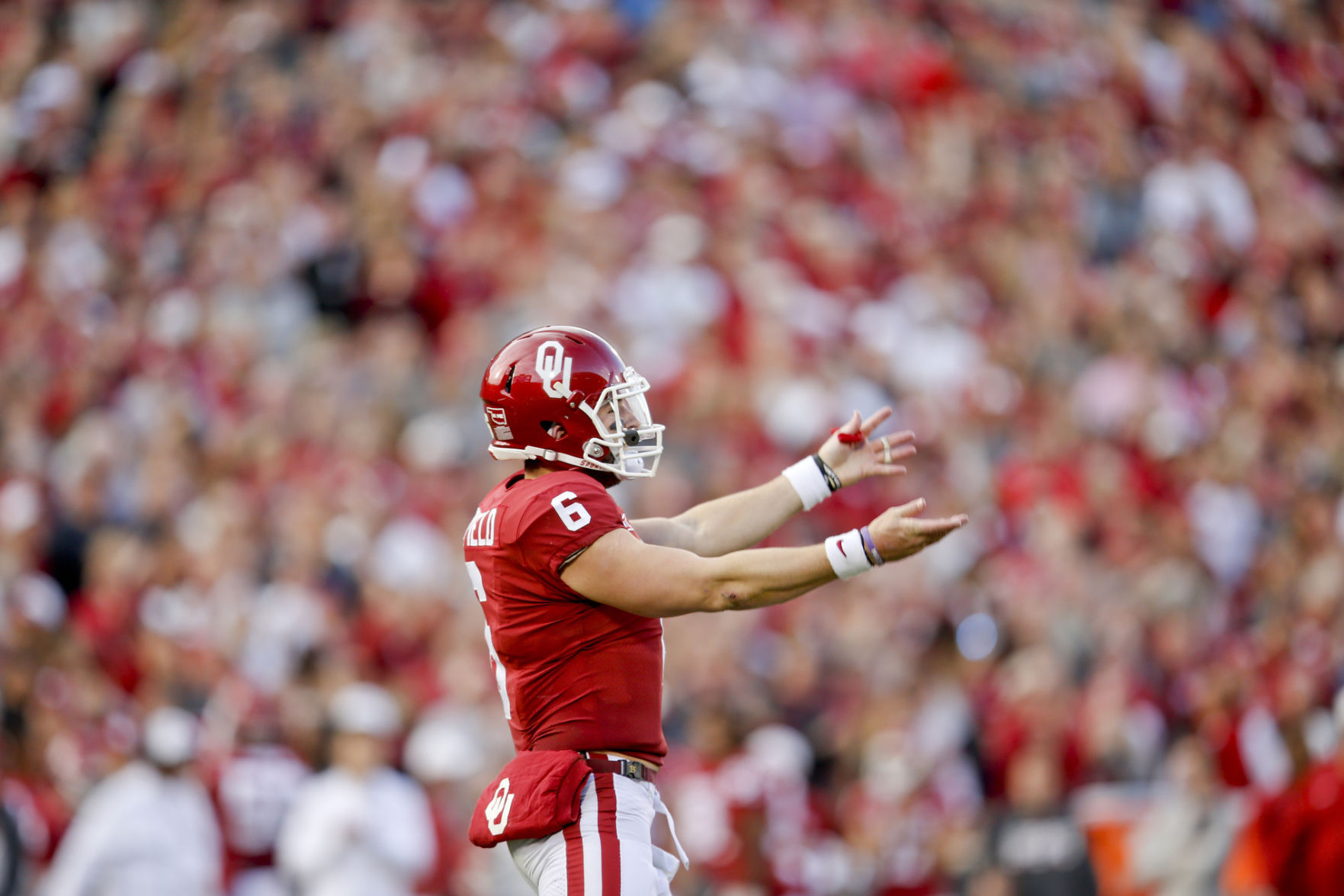West Virginia at No. 4 Oklahoma: Mayfield enters game on Sooners ...