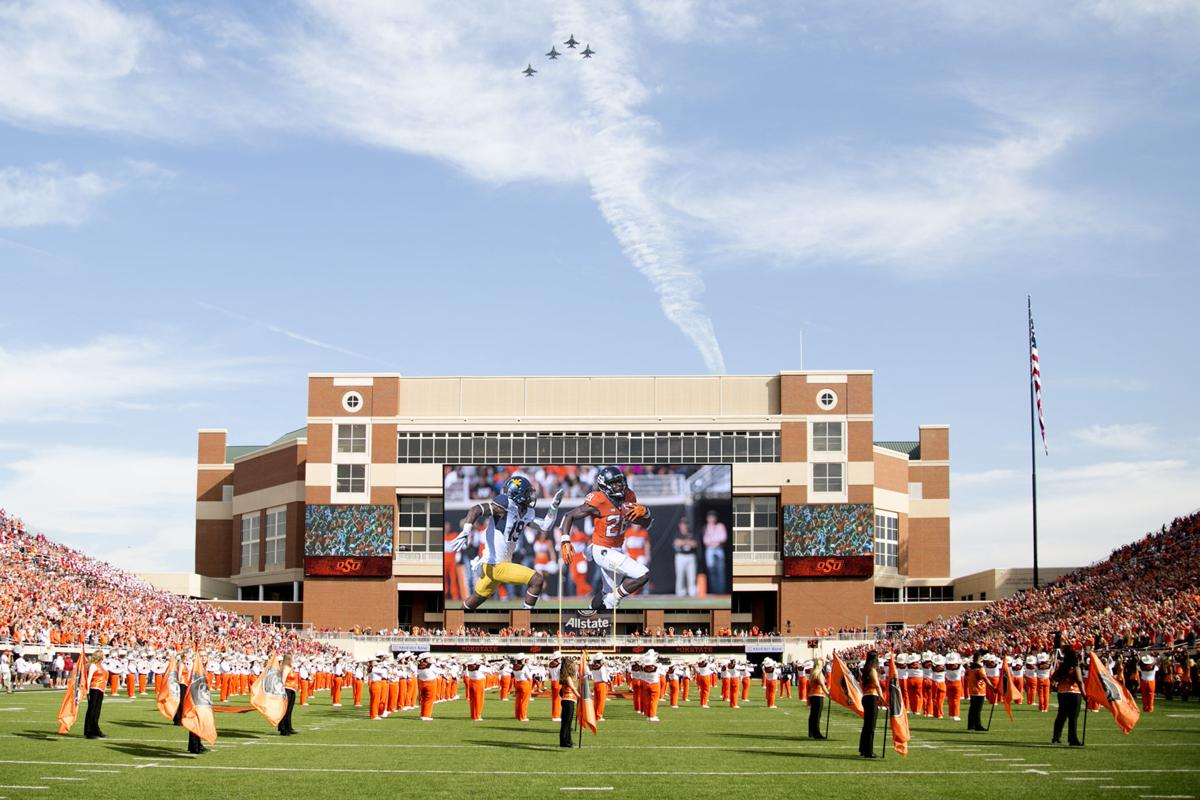 See OSU's new huge video board in Boone Pickens Stadium ...