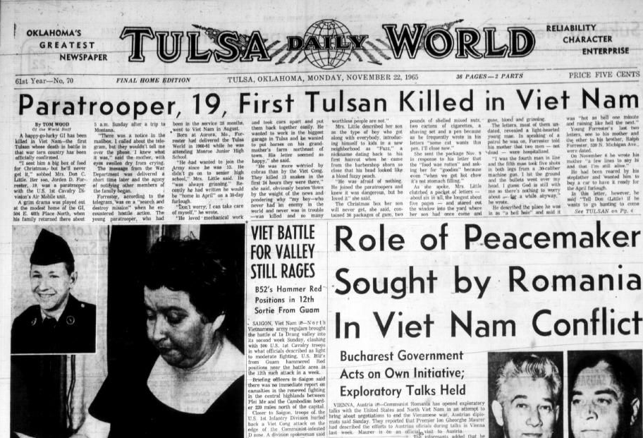 Throwback Tulsa Gallery First Tulsan Killed In Vietnam War 50 Years