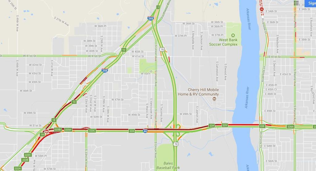 Crash On I 44 Backs Up Traffic On Westbound Lanes In West Tulsa
